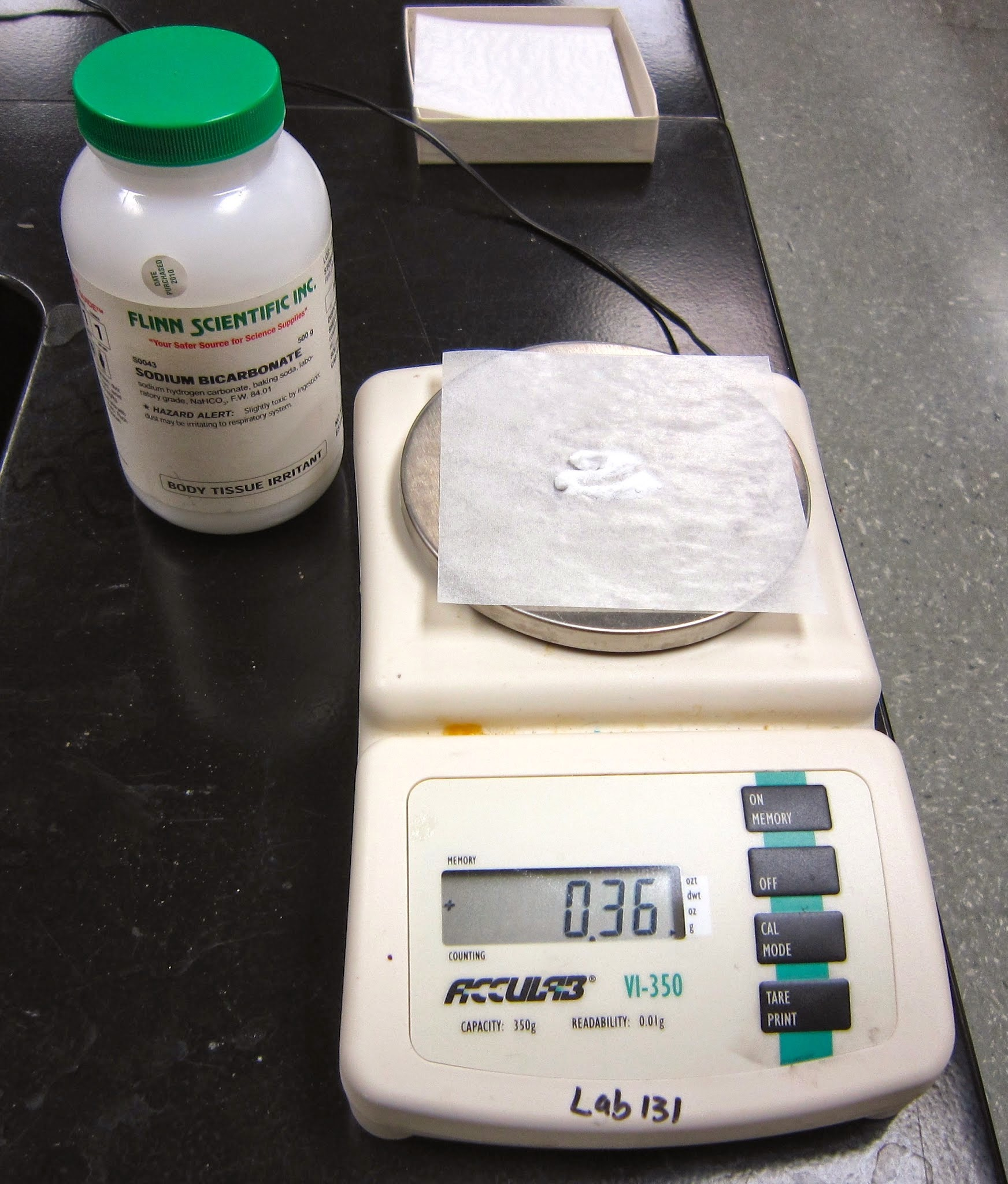 Students Simply Weigh Out An Amount Of Baking Soda Drops Of 2n Sulfuric  Acid Are Added How To Find Percent Yield Of