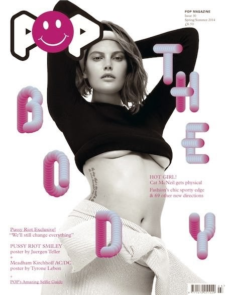 Catherine McNeil Photos from Pop Magazine Cover Spring/Summer 2014 HQ Scans
