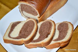 Biało-brązowy chleb na starterze Tang Zhong