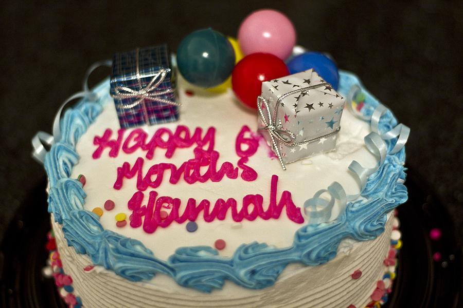 Yyz Bambina Happy Half Birthday Hannah