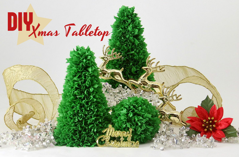 easy tabletop paper xmas tree