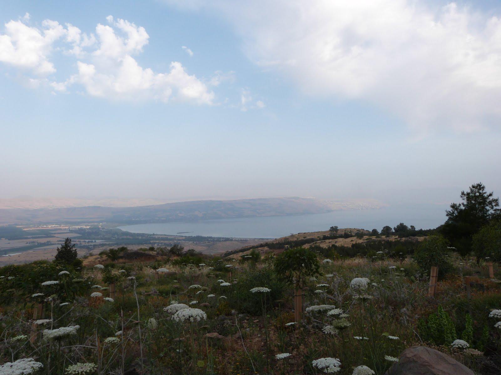 Вид с Голанских высот на Галилейское море (см.погода в Тверии)