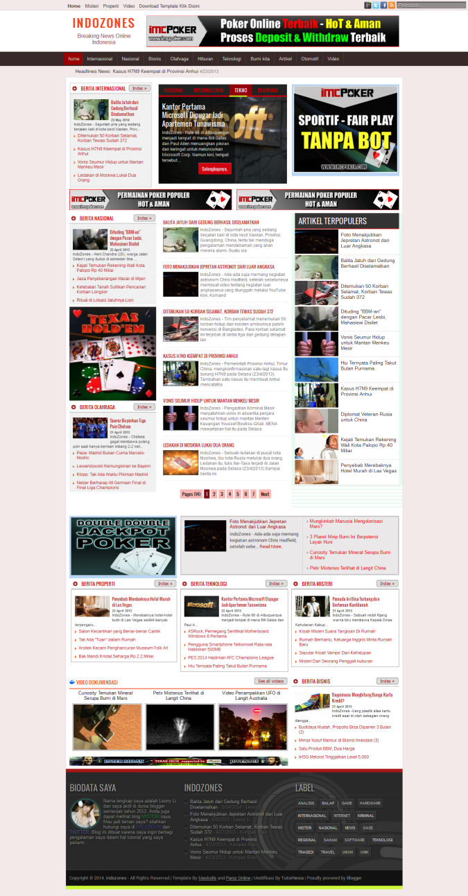 indozones news magazine blogger template nulled clone script. Black Bedroom Furniture Sets. Home Design Ideas