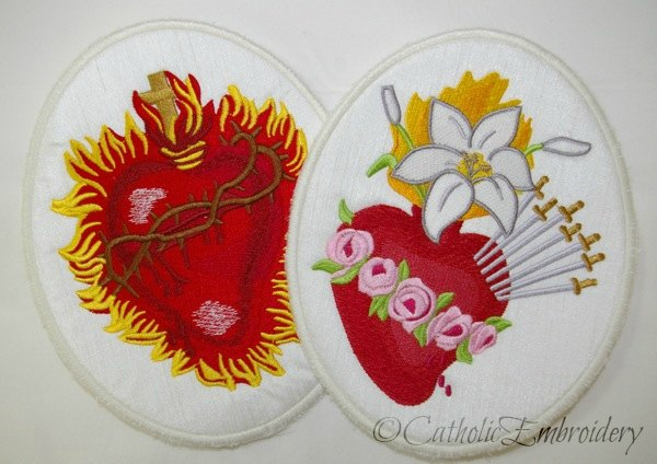 Catholic embroidery appliques embroidery in portable form