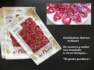 Salchichón Ibérico bellota loncheado Ariñane