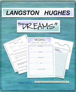 "photo of Langston Hughes ""Dream"", poetry, English Language Arts, Ruth S. TeachersPayTeachers"