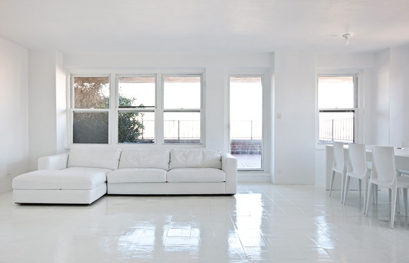 All White Interiors ol' painting: taking all-white interior to the extreme