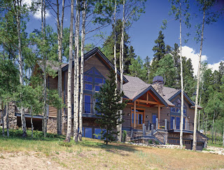 Colorado timber frame home