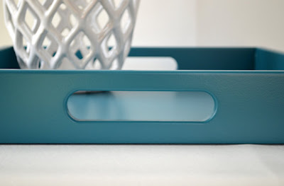 solid-color teal tray