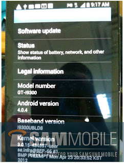 New Samsung Galaxy S3 Pictures Confirm Android 4.0.4 ICS Onboard