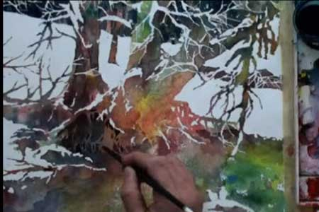 watercolor with lian quan zhen snow harmony video