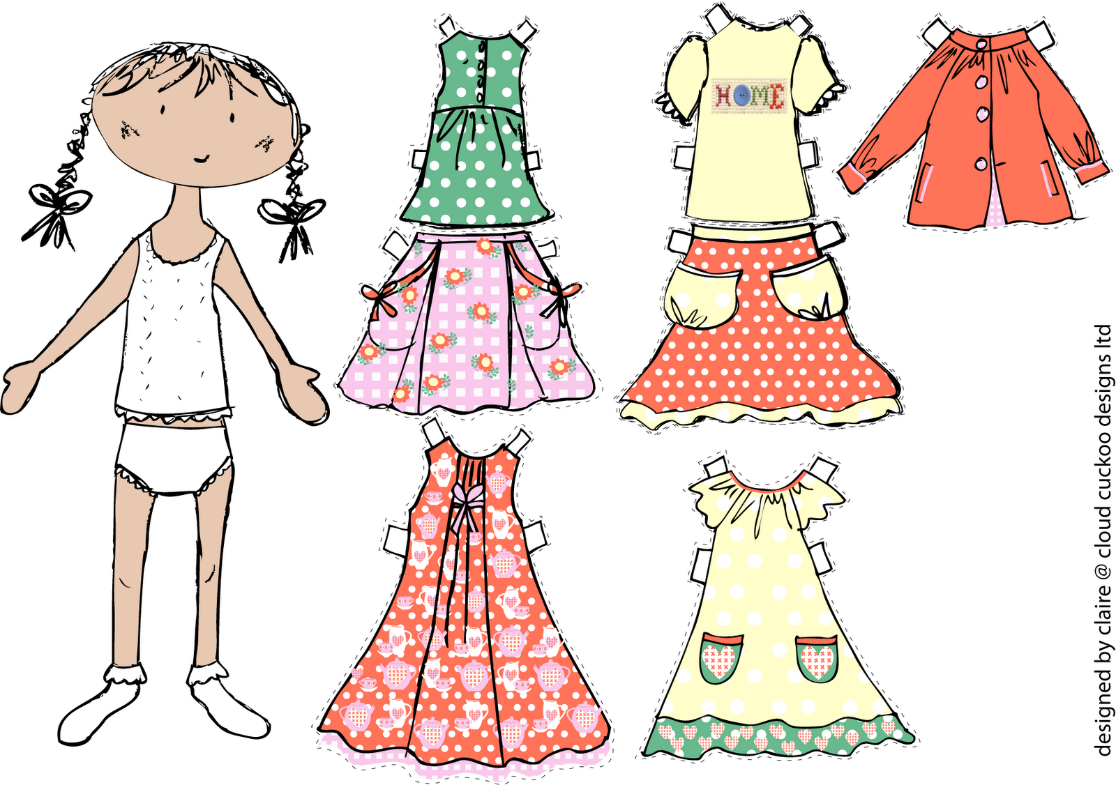 Here is the girl we doodled then let the girls dress undress mix and