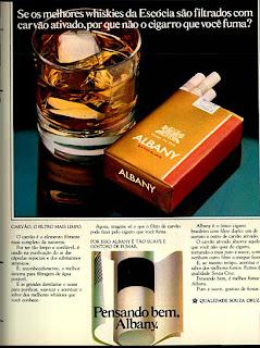 propaganda de cigarros Albany de 1979; propaganda anos 70; história decada de 70; reclame anos 70; propaganda cigarros anos 70; Brazil in the 70s; Oswaldo Hernandez;