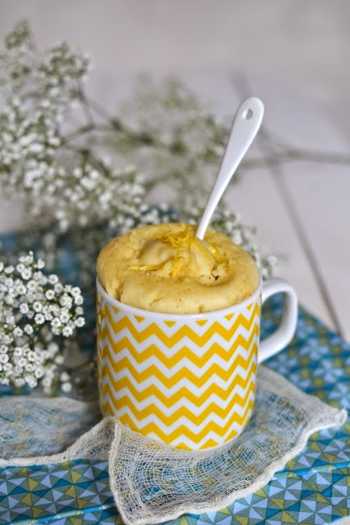 sans gluten sans lactose mug cake au citron sans gluten vegan. Black Bedroom Furniture Sets. Home Design Ideas