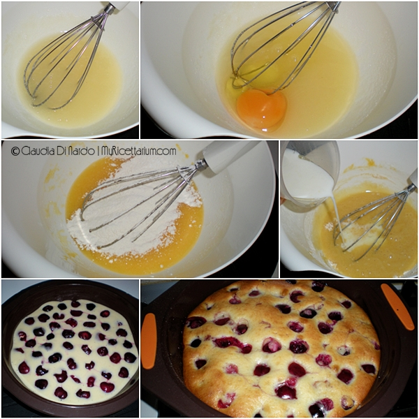 Torta light di ciliegie