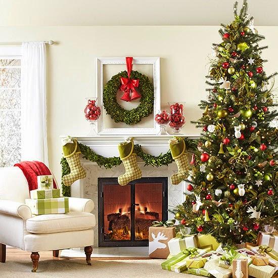 en blanco y rojo para una decoracin navidea en estilo nrdico