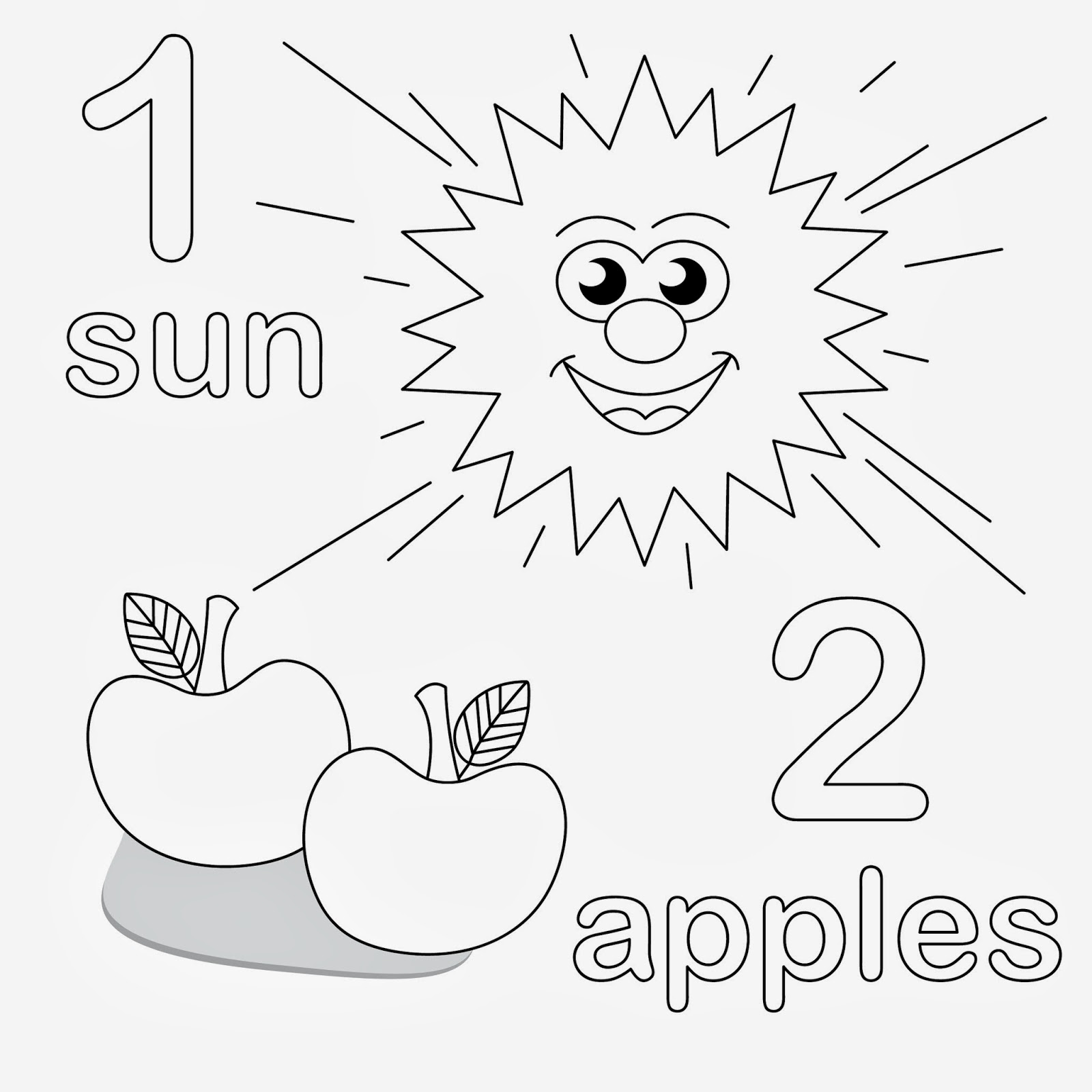 Number And Counting Coloring Pages