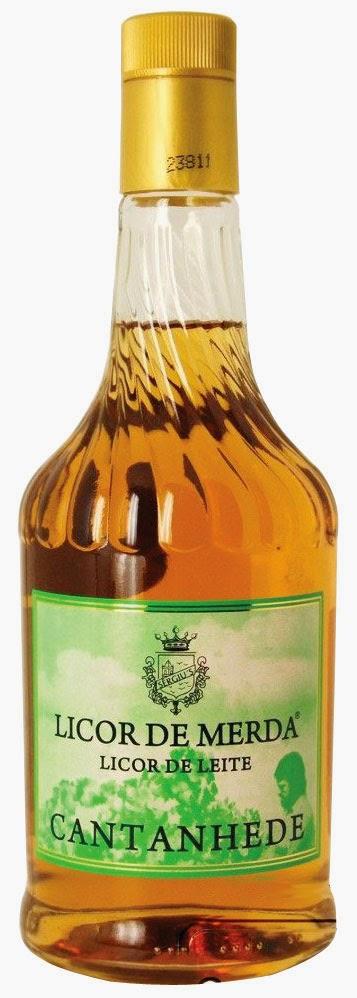 Licor de Merda Cantanhede lançado em Portugal em homenagem aos políticos daquela época.