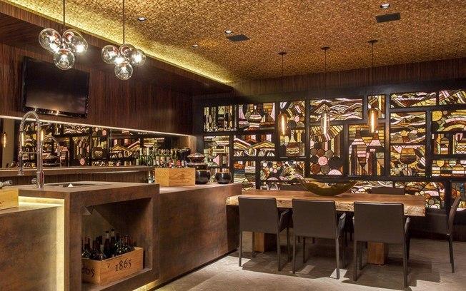 Dourado tend ncia para cor de paredes em 2016 for Barras para bares rusticos