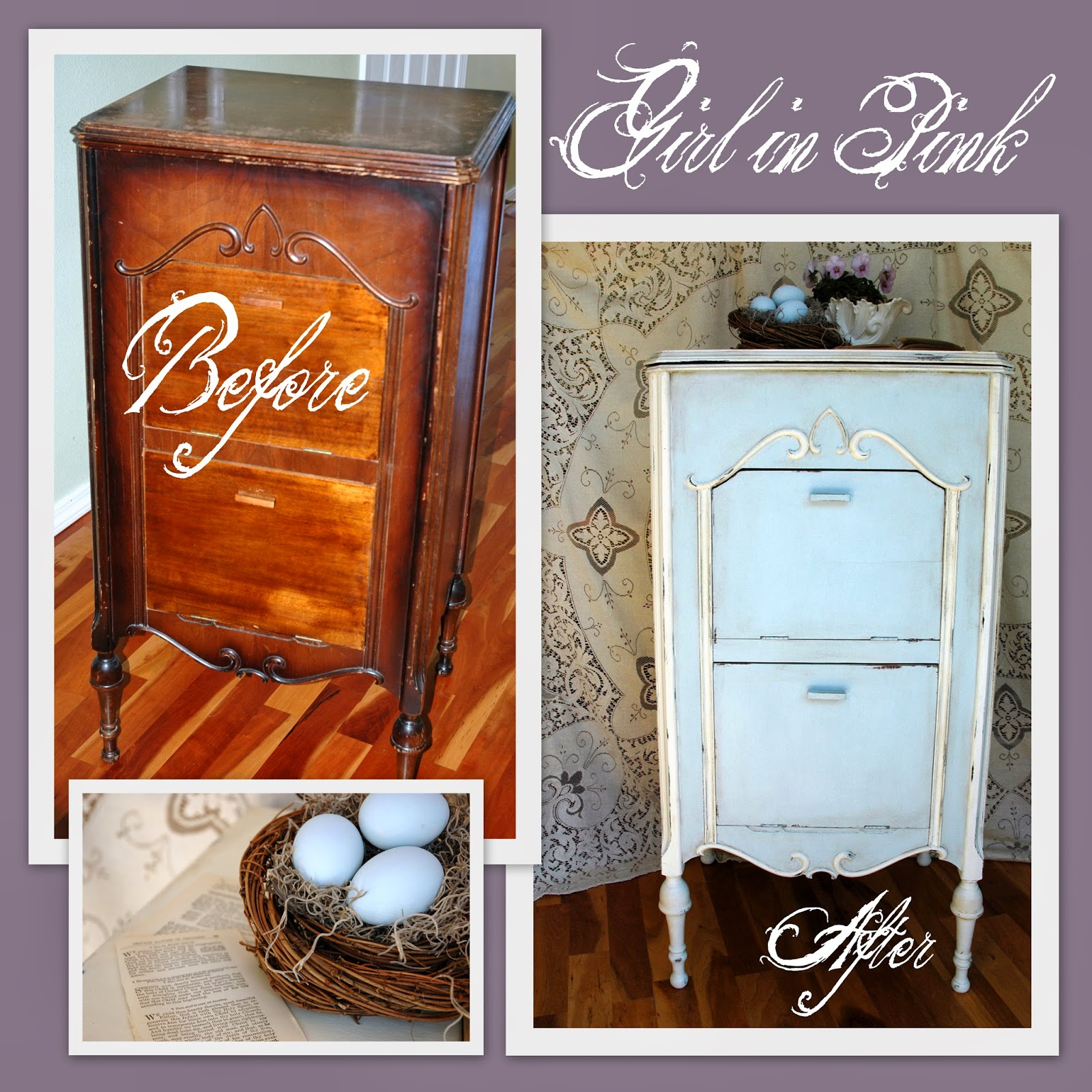 Girl in Pink: Antique Radio Cabinets - Restyled and Repurposed