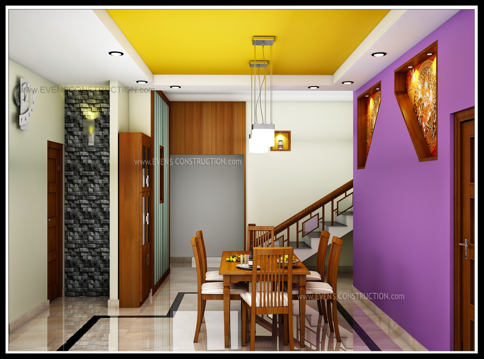 Evens construction pvt ltd dining room for Dining room designs kerala
