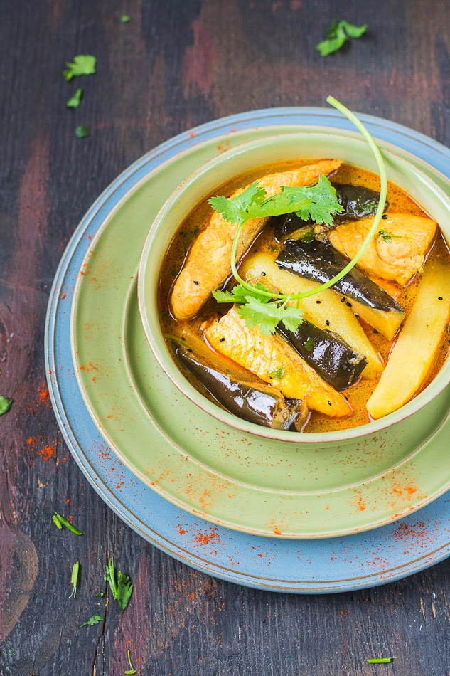 Mix and Stir: Fish Curry with Eggplant ( Flavored with ...