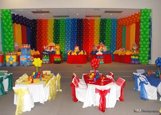 Fiestas Infantiles Decoradas con Elmo