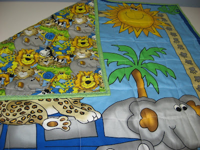 Jungle Animal Baby Quilt ~ Quick and Easy Gift!