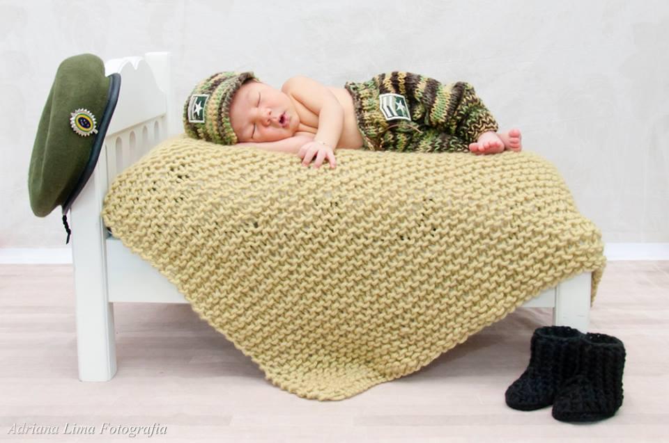 ETERNIZE UM MOMENTO  Conjunto militar para newborn 3b3f2fc8e33