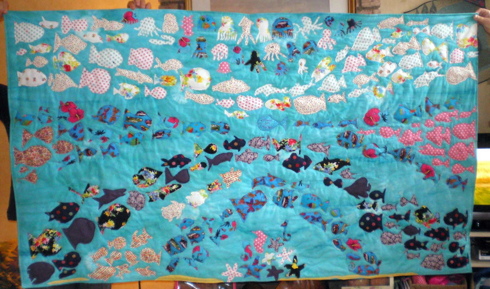all almost fishscraps part summerlin by market scraps quilt vintage rahna the fish inspirations quilts report fall a inspired