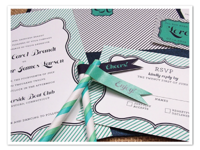 fun modern striped printable diy wedding stationery designs