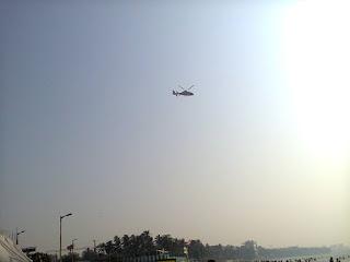 Aero plane at sea Juhu