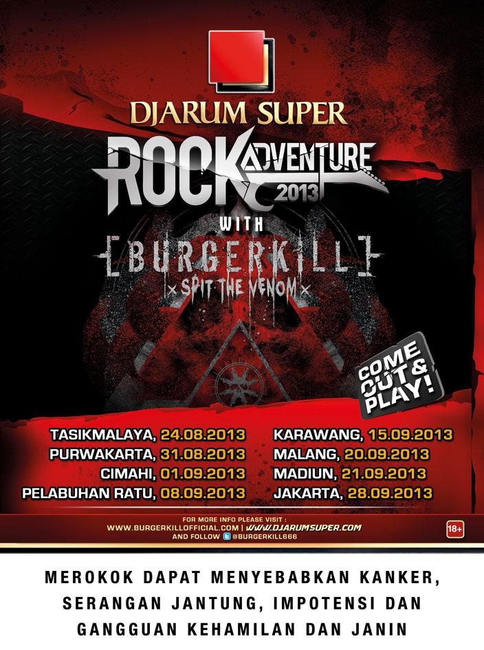 Jadwal Lengkap Konser Djarum Super Burgerkill 2013
