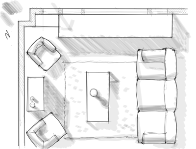 Id render how to draw shadows on a floor plan for How to draw home plan