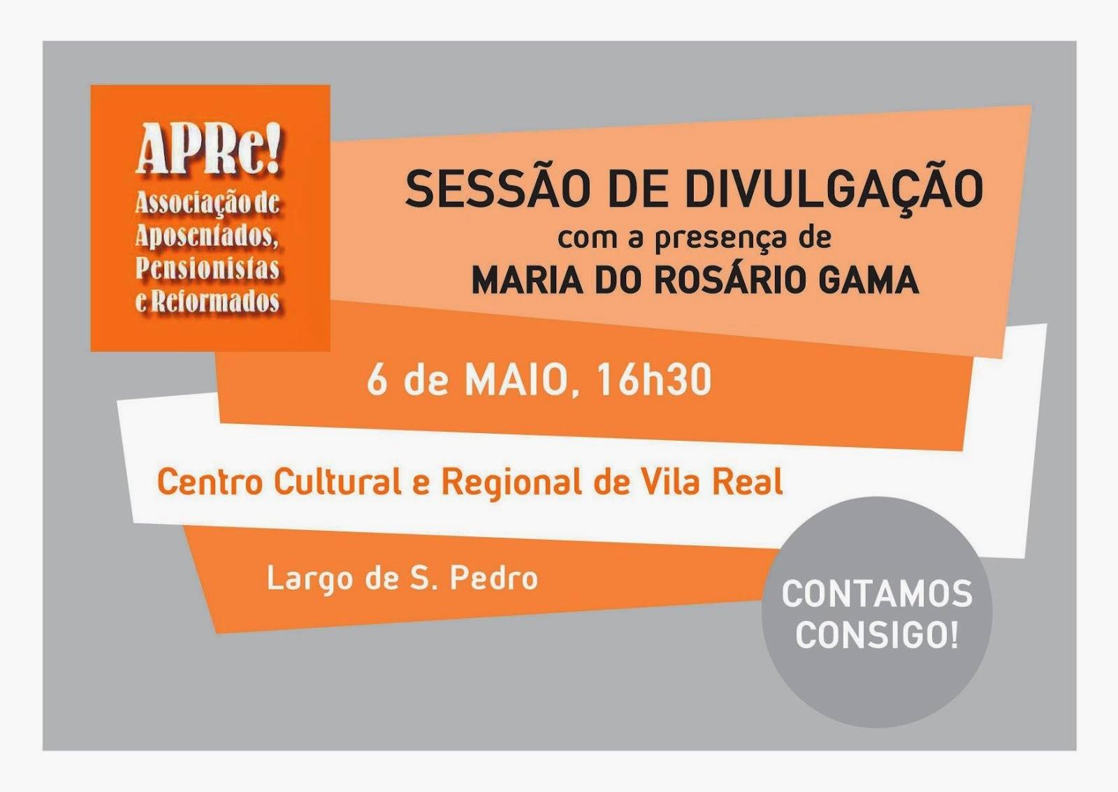Vila Real, sessão pública de apresentação da APRe!