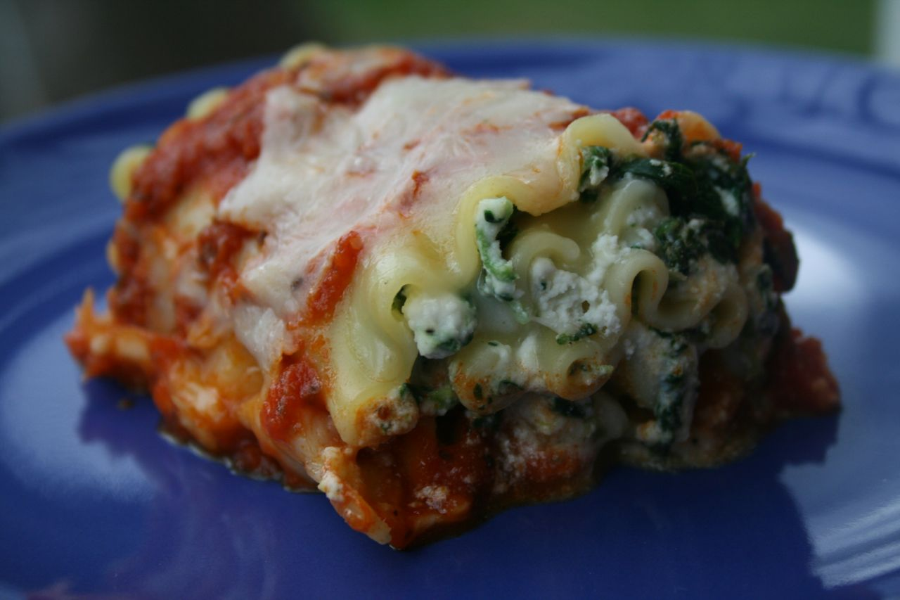 Recipe Shoebox: Spinach Lasagna Rolls (Healthy Version)