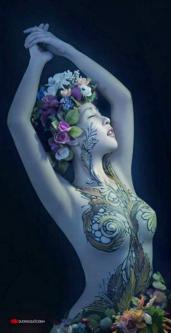Ảnh gái xinh Body painting của Dương quốc định 23