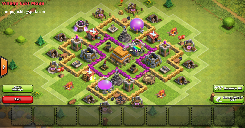 edit vilage desain trophy base coc TH level 6