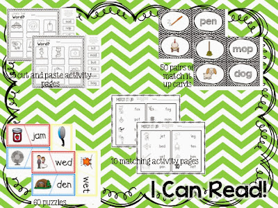 http://www.teacherspayteachers.com/Product/I-Can-Read-CVC-Activities-For-Any-Time-999680