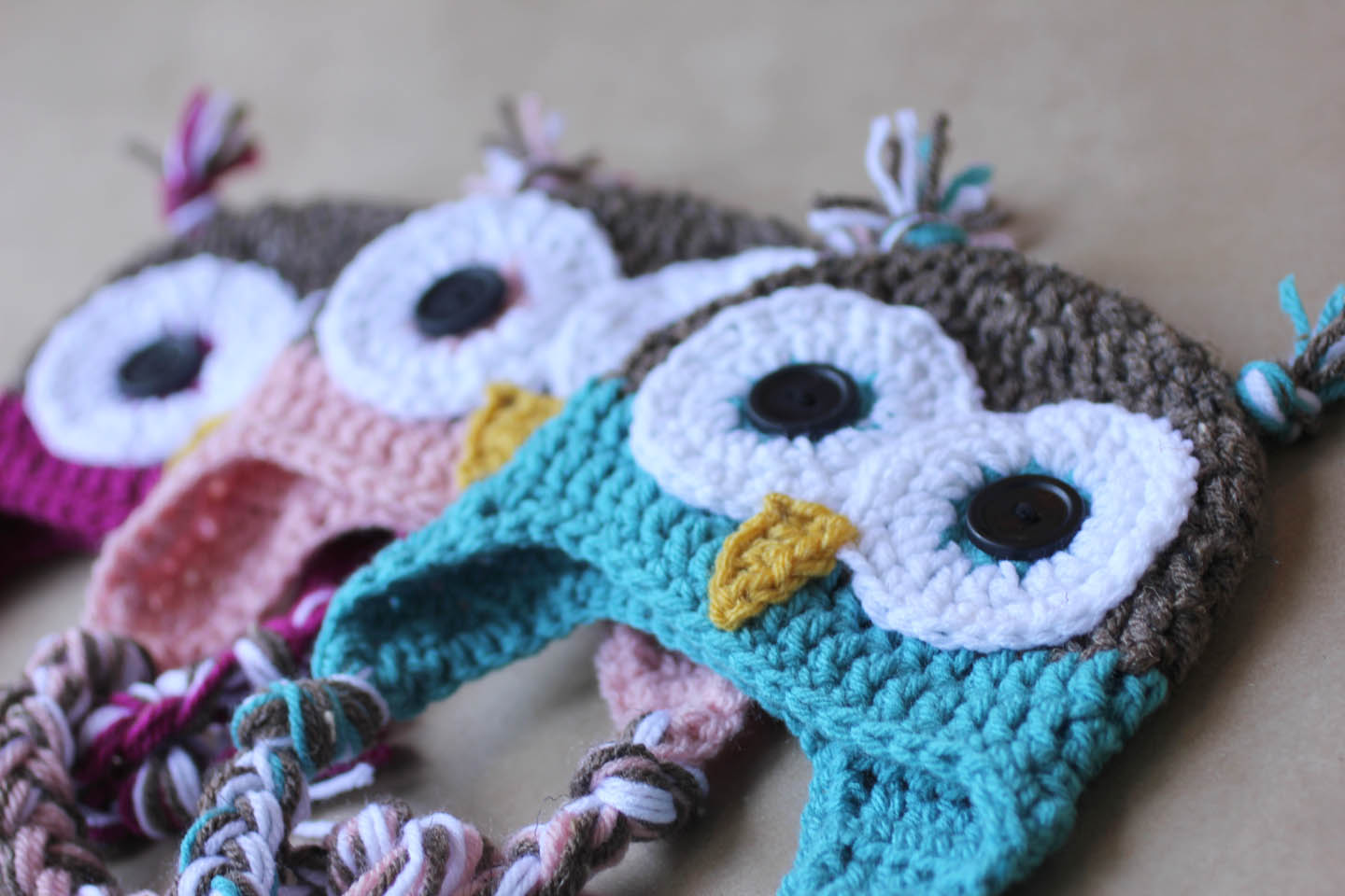 Crochet Pattern For Newborn Owl Hat : Make knot and braid approx 5 5 inches long knot trim ends