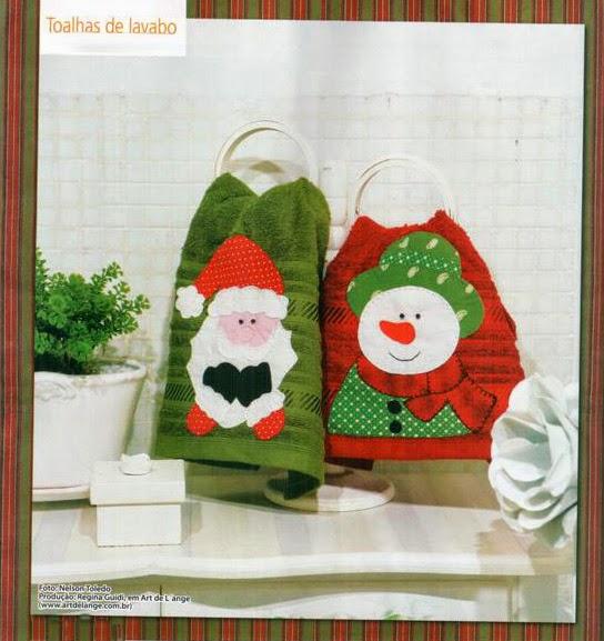 Moldes patch aplique natalino em toalhas