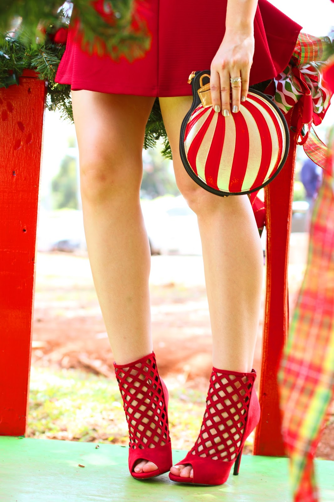 Red booties are the perfect accessory for these holidays!