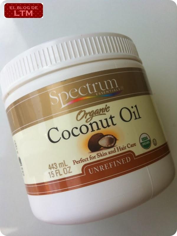En iHerb hay varias marcas alternativas de aceite de coco, pero me decanté  por este de Spectrum porque no está refinado. De hecho, especifican que ¡se  puede