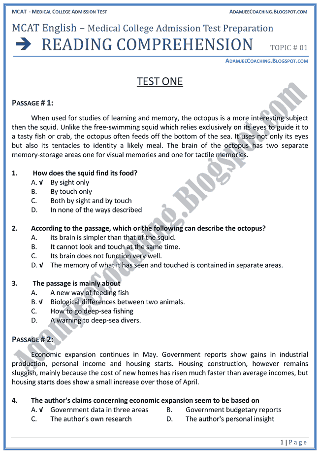 essay reading comprehension test Read a student essay 14  at grades 2–12, listening, reading, and writing  sections are administered to groups of  the questions test comprehension.
