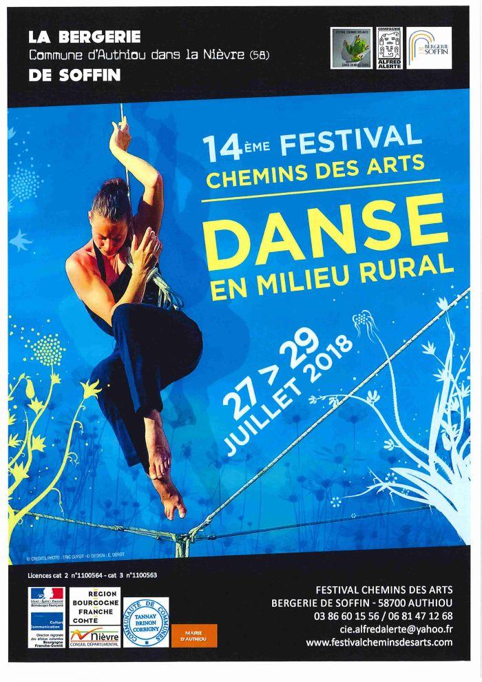 14 ème Festival chemins des Arts Danse en milieu rural du 27 au 29 juillet