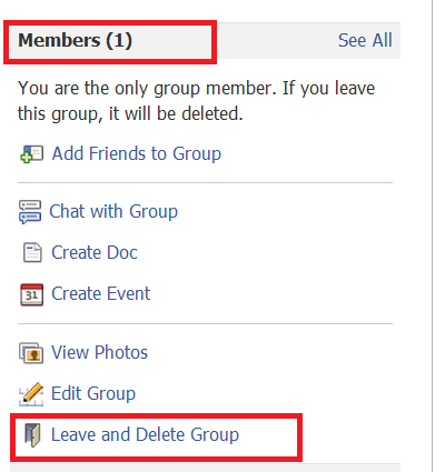 How to delete a group on facebook wasim hacks now you are the only member of that groupso you can see leave and delete group option click that thats it your group is deleted ccuart Choice Image