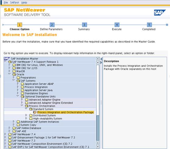 SAP PO 7.4 INSTALLATION MASTER SAPINST SCREENSHOT