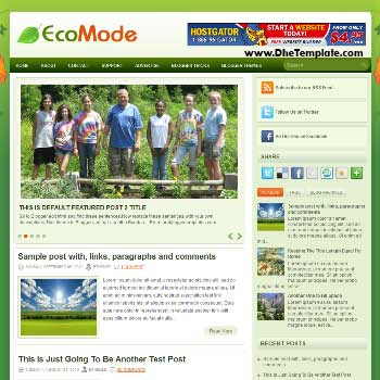 EcoMode blog template. template image slider blog. magazine blogger template style. blogger template for android blog
