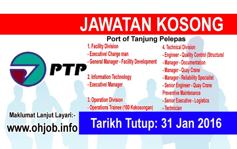 Jawatan Kerja Kosong Pelabuhan Tanjung Pelepas Sdn Bhd logo www.ohjob.info januari 2016