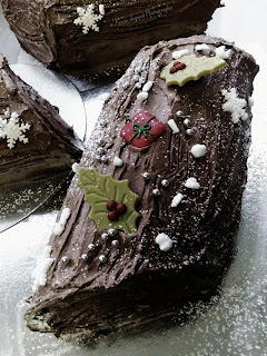 Chocolate Christmas logs